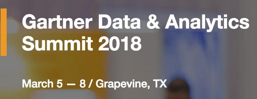 Gartner data and analytics summit